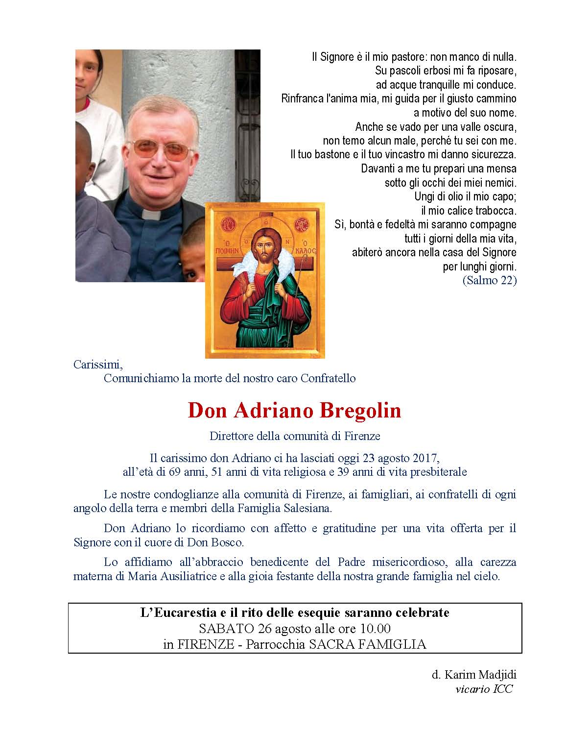 訃聞 前慈幼會副總會長白康寧司鐸 Fr. Adriano BREGOLIN安息主懷 Page 2