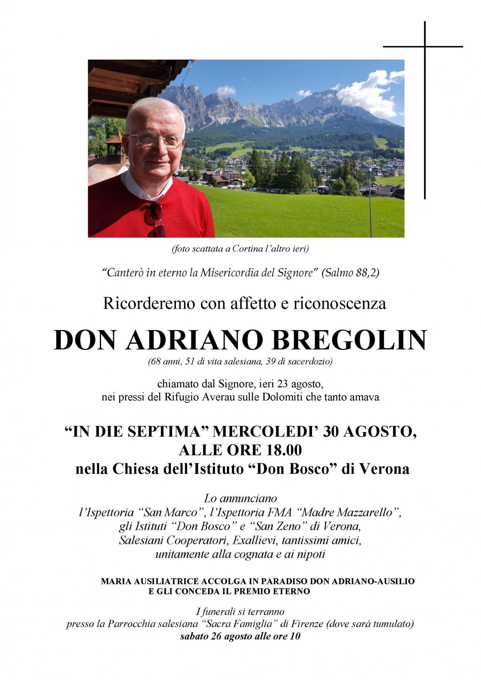 訃聞 前慈幼會副總會長白康寧司鐸 Fr. Adriano BREGOLIN安息主懷 Page 3